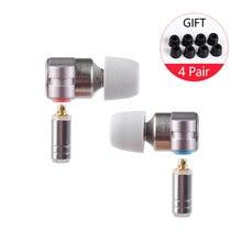 TinHIFI auriculares intrauditivos T3 con unidad 1DD + 1BA knoples, auriculares con graves de alta fidelidad, Metal, 2019mm, con MMCX Tin T2, 3,5
