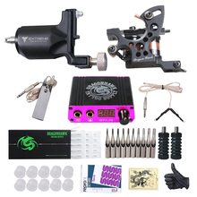 Dragonhawk Tattoo Kit Rotary Tattoo Machine Fine Lining Guns Professional Tattoo Power Box Tattoo Grips Kit Set