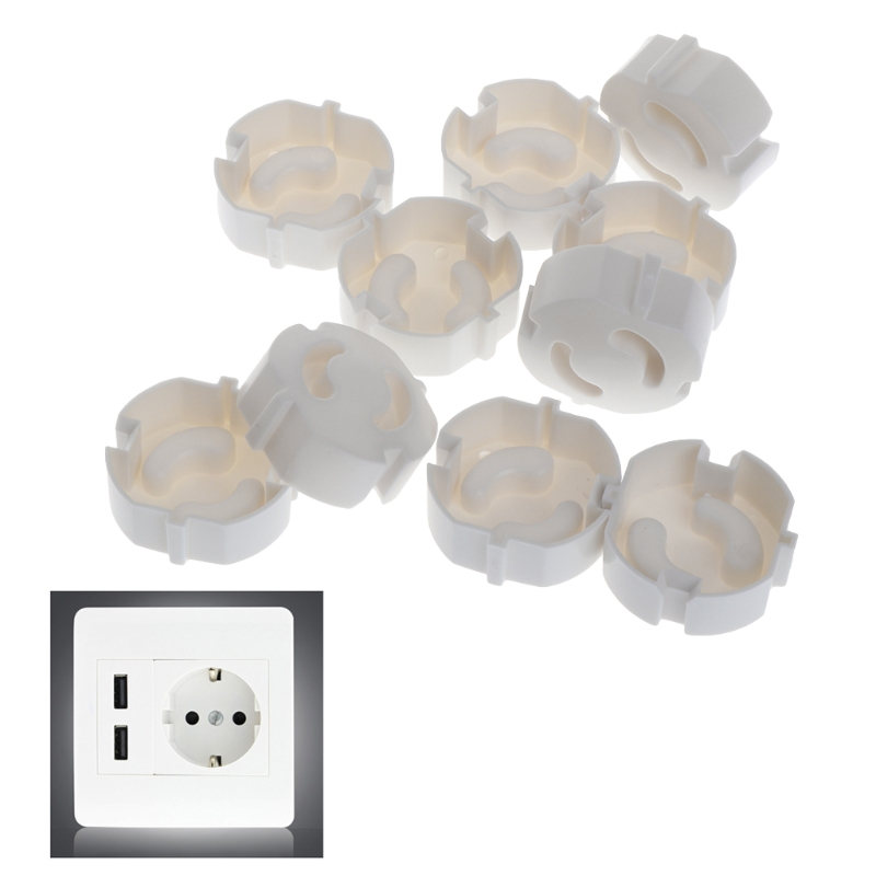 10pcs Baby Safety Plug Socket Cover Protective Child Safety Plug Guard 2 Hole