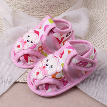 Baby Girls Boys Soft Sole Cartoon Anti-slip Shoes Infant Children Kawaii Casual Shoes Toddler Newborn Animal Printing Sandals(China)