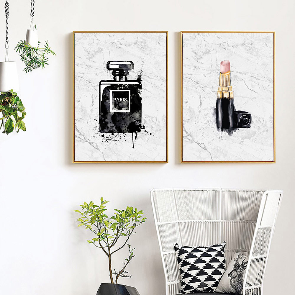 Black And White Posters Prints Abstract Perfume Canvas Painting Nordic Fashion Poster Print Art Unframed
