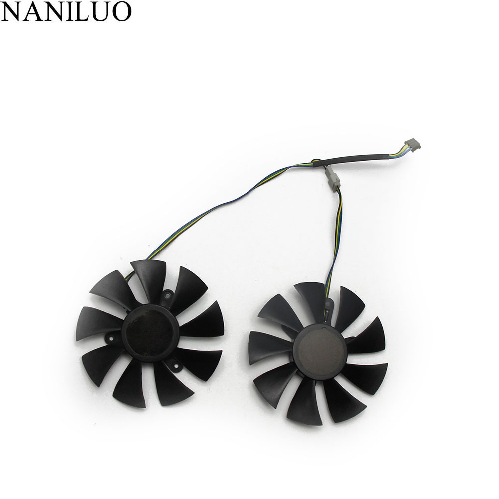 85mm GA91S2H GFY09010E12SPA 4Pin VGA Cooler Fan Replace For ZOTAC AMP <font><b>1060</b></font> 6 GB <font><b>GTX</b></font> 1070 <font><b>Mini</b></font> Graphics Card Cooling Fan image