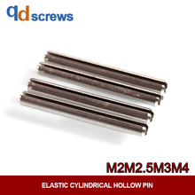 304 M2M2.5M3M4 stainless steel elastic pin cylindrical positioning hollow