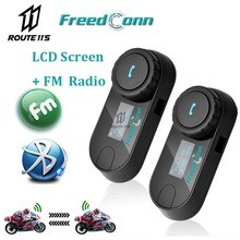 FreedConn Motorcycle Helmet Walkie-talkie Headset TCOM-SC BT Bluetooth Is Suitable For All With LCD Screen + FM Radio Waterproof