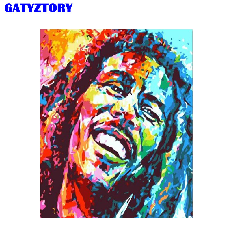 GATYZTORY Frame Colorful Figure Picture Diy Painting By Numbers Modern Home Wall Art Picture Coloring By Numbers For Home Decors