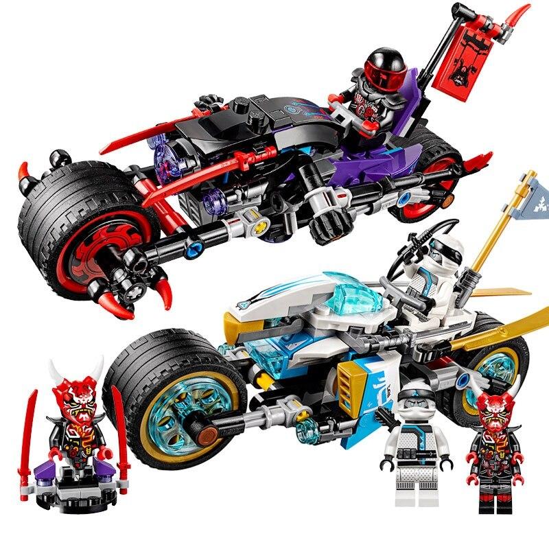10802 333pcs Compatible with 70639 Street Race of Snake Jaguar Ninja Building Blocks Bricks Toys Model For Kids As Gifts 1