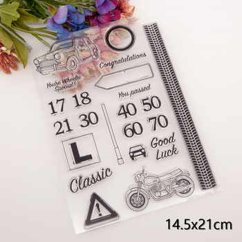 Car and Number Clear Stamps New Arrivals Cutting Dies Scrapbook Christmas Card Paper Craft Silicon Transparent - discount item  20% OFF Arts,Crafts & Sewing