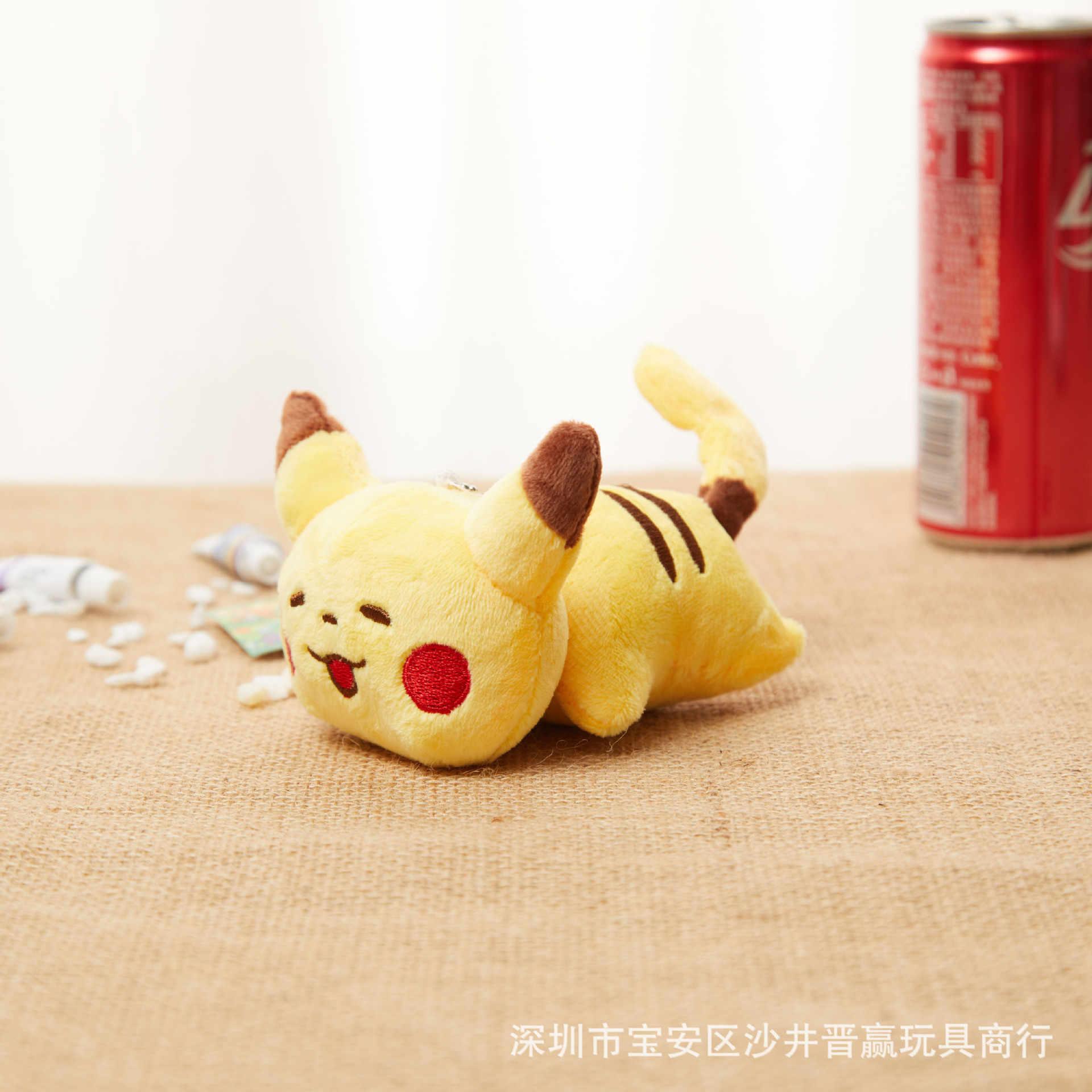 Pokemon 12 ซม.พ็อกเก็ตมอนสเตอร์พวงกุญแจจี้ Pikachu Charmander Squirtle Bulbasaur ตุ๊กตาตุ๊กตา Plush ของขวัญของเล่นเด็กเด็ก