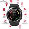 Borda norte relógio inteligente gps bluetooth telefone chamada smartwatch masculino mulher ip67 à prova dip67 água freqüência cardíaca monitor de pressão arterial relógio