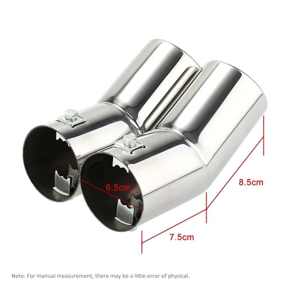 Car Tail Pipes Replacement Car Style Dual Pipe Stainless Steel <font><b>Exhaust</b></font> Tail Pipes Muffler Tips for <font><b>VW</b></font> <font><b>Golf</b></font> <font><b>4</b></font> Bora Jetta image