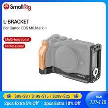 SmallRig M6 Mark II L Halterung Mit Holz Handgriff für Canon EOS M6 Mark II Arca Schweizer Standard L Platte Montage Platte 2516