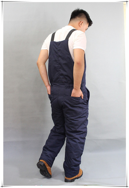 Winter Warm Thicken Working Tooling Overalls Male Work Wear uniforms Wear resistant Cold proof Jumpsuits For Worker Repairman 4
