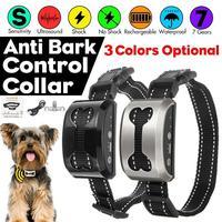 Wasserdicht pet Kragen Intelligente Hund Anti Rinde Kragen Ultraschall Wiederaufladbare Ausbildung CollarsVibration Hund Stop BarkingControl