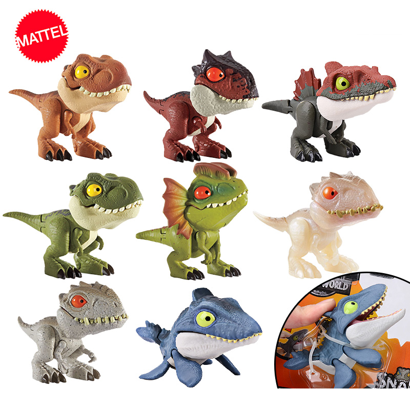 Jurassic World Mini Fingers <font><b>Dinosaur</b></font> Action Figure Movable Joint Simulation Model <font><b>Toys</b></font> for Children Collection Animate Figma image