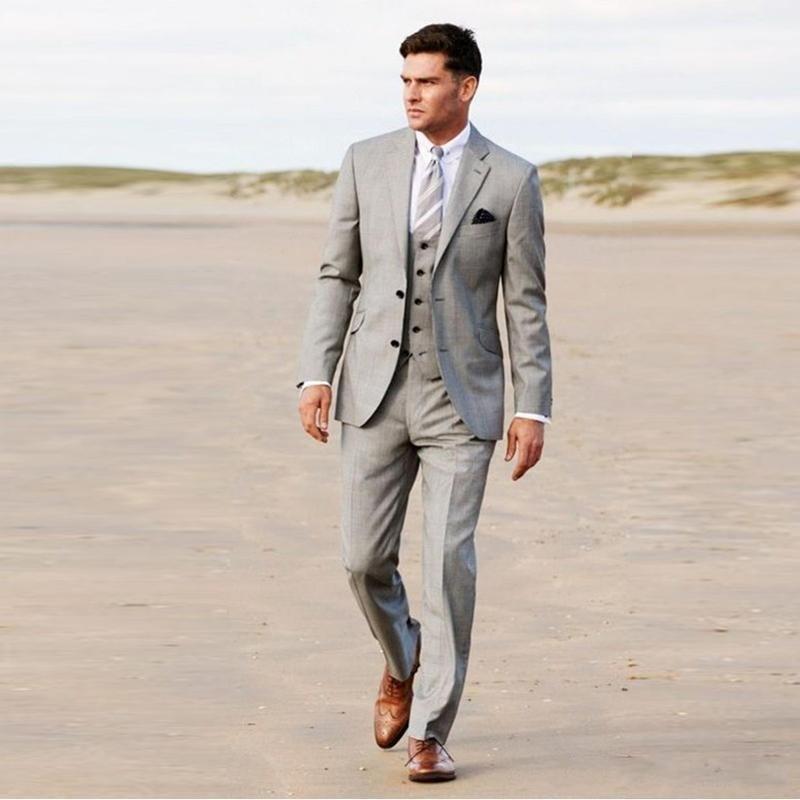 New-Light-Grey-Groom-Tuxedos-Notch-Lapel-Mens-Wedding-Tuxedos-Fashion-Man-Jacket-Blazer-Suit-3