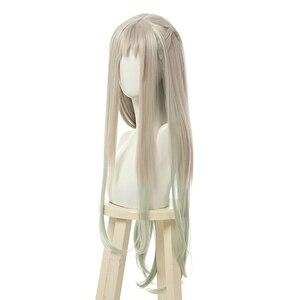 Image 2 - L Email Tóc Giả Nene Yashiro Cosplay Bộ Tóc Giả Jibaku Shounen HANAKO Côn Cosplay Dài Màu Xám Xanh Thẳng Chịu Nhiệt tóc Tổng Hợp