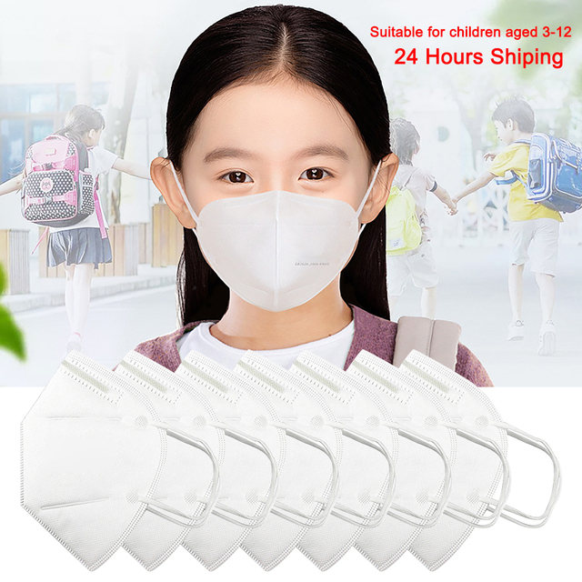 KN95 Kids Face Masks 4 Layers Breathable Anti Dust Anti-Haze Fog PM2.5 KN95 Children's Mask Boy and Girl Protective Mouth Masks