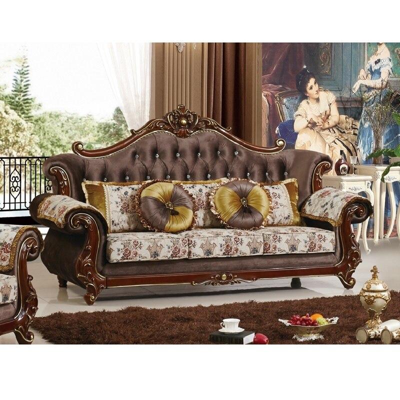 Galleria fotografica Tessuto in legno massello divano a buon mercato set di divano del salotto Твердая деревянная ткань дешевый диван набор гостиной WA535