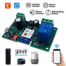 Tuya módulo de relé sem fio wifi garagem single-way interruptor do temporizador de controle remoto app inteligente voz para a casa do google alexa