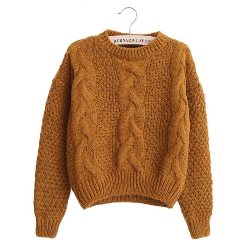 Women Sweaters Warm Pullover And Jumpers Crewneck Mohair Pullover Twist Pull Jumpers Autumn 2019 Knitted Sweaters Christmas