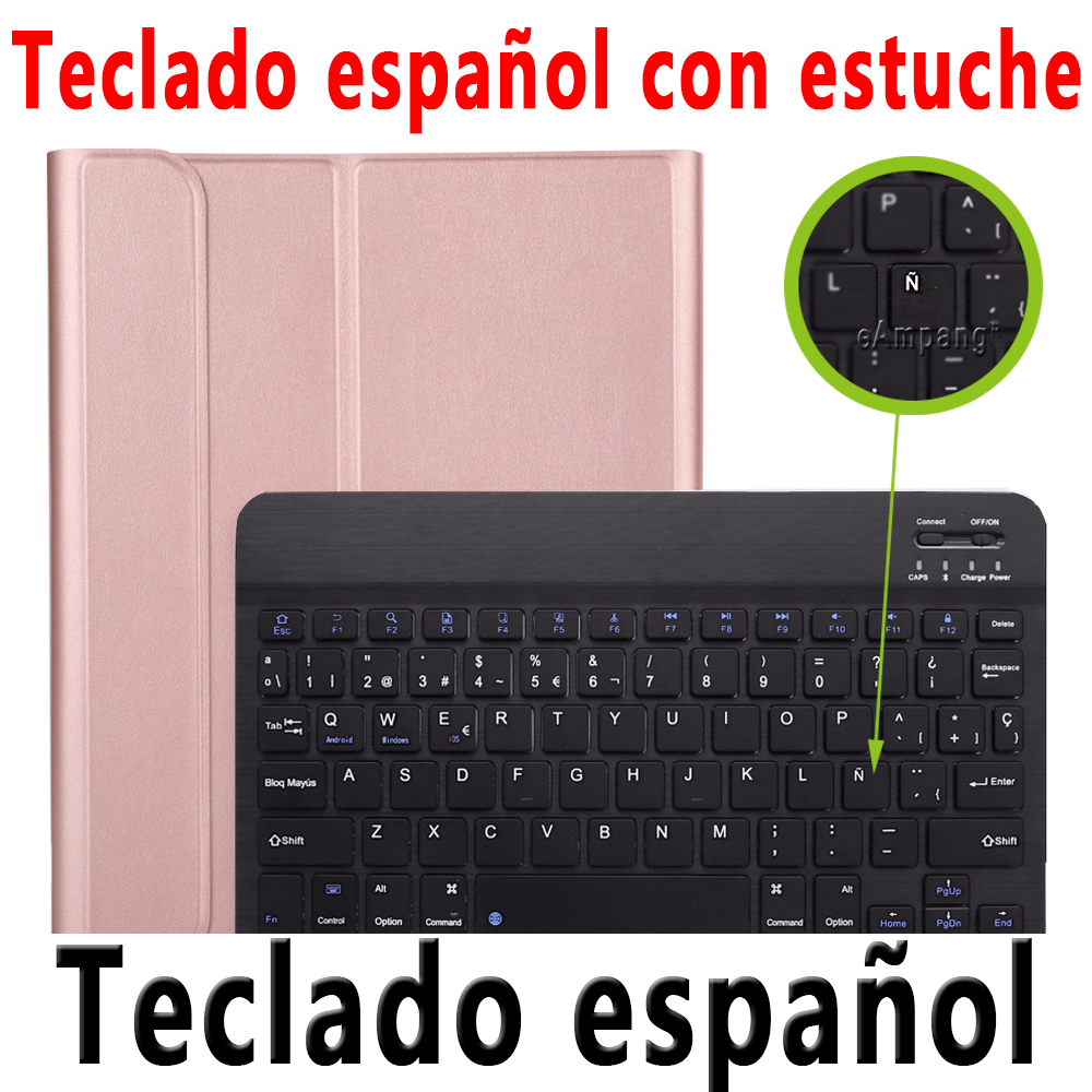 Spanish Keyboard Khaki For iPad Pro 11 2020 2018 Keyboard Case with Pencil Holder Keyboard for Apple iPad Pro