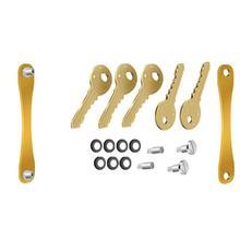 LLavero de aluminio Plip Flexible organizador de almacenamiento de llaves compacto llavero de Regalo perfecto hasta 8 o 14 tamaño estándar