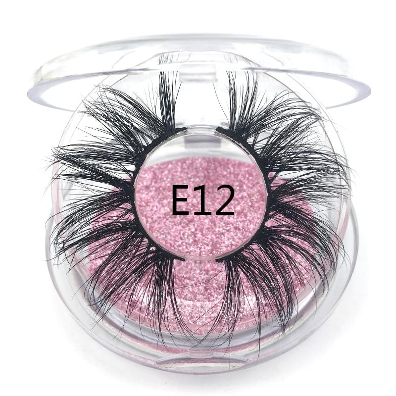 Mikiwi Extension Eyelash Mink Eyelashes False Eyelashes Natural Fake Lashes Length 25mm Makeup 3D Mink Lashes