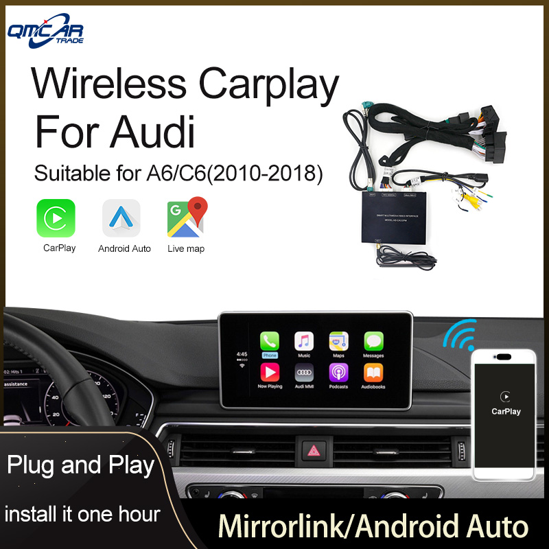Wireless Apple CarPlay for Audi A6 2010-2018 Android Auto /Car play Airplay Multimedia player /HDMI Display/ Mirrorlink IOS 13 image