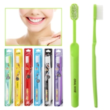 1pc Super hard bristles Tooth brush for Men Remove Smoke Blots color random C1FF