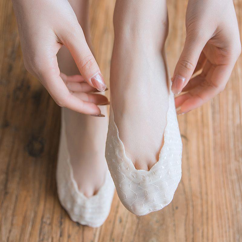 Fashion Women Sock 2020 Slippers Sock Short Solid Color Nylon Summer Thin Women No Show Socks Women Invisable Socks High Quality