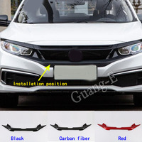 Car Cover Frame Sticker Trim Front Logo Mark Decorative Mark Grid Grill Grille Racing For Honda Civic 10th Sedan 2019 2020 2021