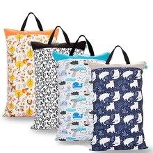 40X70cm Waterproof Reusable Wet Bag Printed Nappy Bags Travel Wet Dry Bags Diaper Bag 3 pcs pail liner waterproof cloth diaper bags waterproof draw string reusable wet dry bags nappy bag 50x60cm