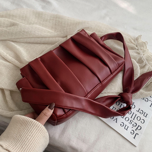 Image 4 - 2020 Fold Cloud Totes Bags for Women Underarm Bag PU Leather Womens Handbags Evening Clutch Purses Lady Dumplings Handbags New