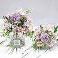 7 цветов гортензии, искусственный букет, Шелковый Цветущий Искусственный Пион, свадебные цветы, розы, Свадебный декор