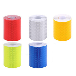 1PC 1m*5cm Car Truck Reflective Self-adhesive Safety Warning Tape Roll Film Sticker