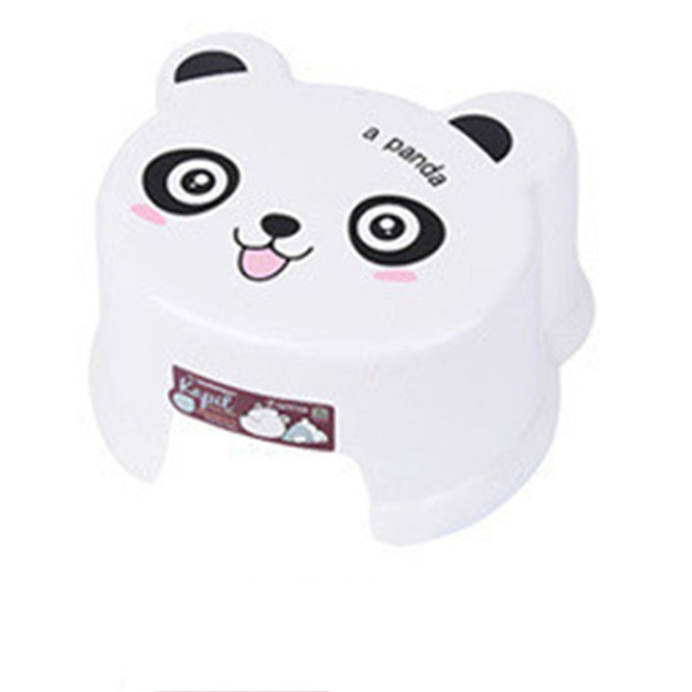 19.5x15.5x11.5cm Thick Plastic Stool Multi Purpose Slip Resistant Children Stool Creative Cartoon Stool For Bathroom Living Room