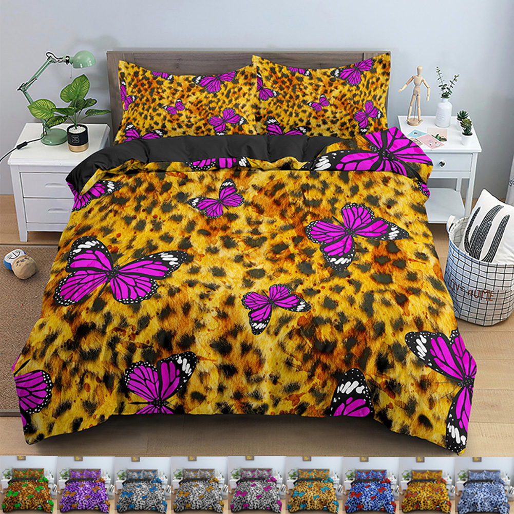Bohemia Flower Butterfly Duvet Cover Bedding Set Quilt Cover Queen Bed Home Textiles