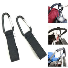 1/2pcs Stroller Hooks Wheelchair Stroller Pram Carriage Bag Hanger Hook Baby Strollers Shopping Bag Clip Stroller Accessories(China)