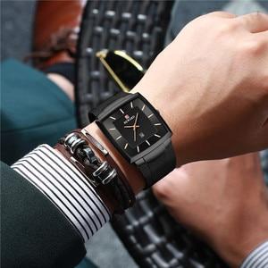 Image 4 - New Fashion Square Men Wristwatch Ultra thin Luminous Date Men WristWatch Top Brand Luxury Waterproof Male Watch Dropshipping