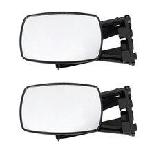 1 Pair Caravan Towing Mirrors Car Van Wing Mirrors Extension Mirror (Black)