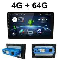 1 din android 9.0 octa núcleo px6 rádio do carro estéreo gps navi áudio player de vídeo unidade pc wifi bt hdmi amp 7851 obd dab + swc 4g 64g