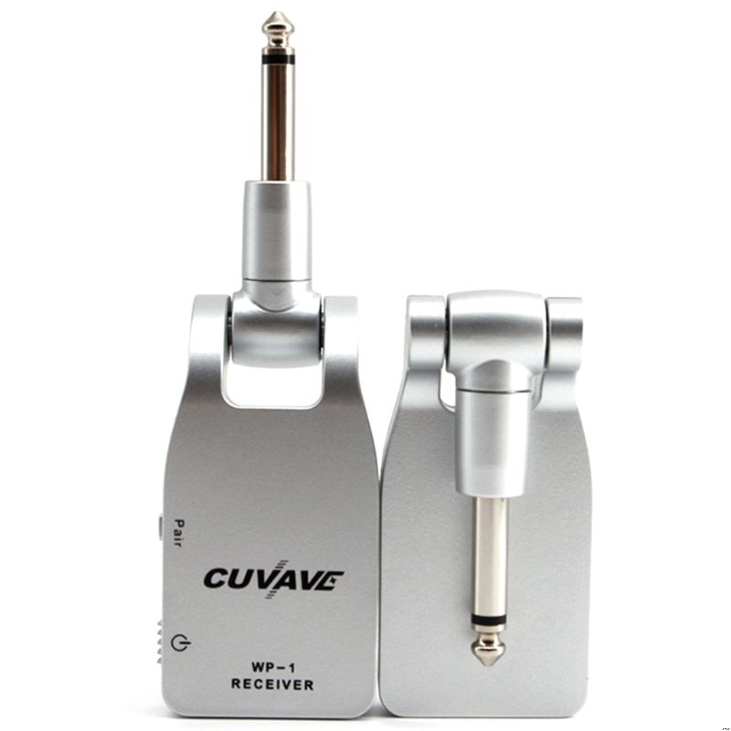 2.4G Wireless Guitar System Transmitter & Receiver Built-in Rechargeable Lithium