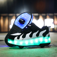Heelies 2020 New USB charge LED Colorful Children Kids Fashion Sneakers with Two Wheels Roller Skate Shoes Boys Girls Shoes