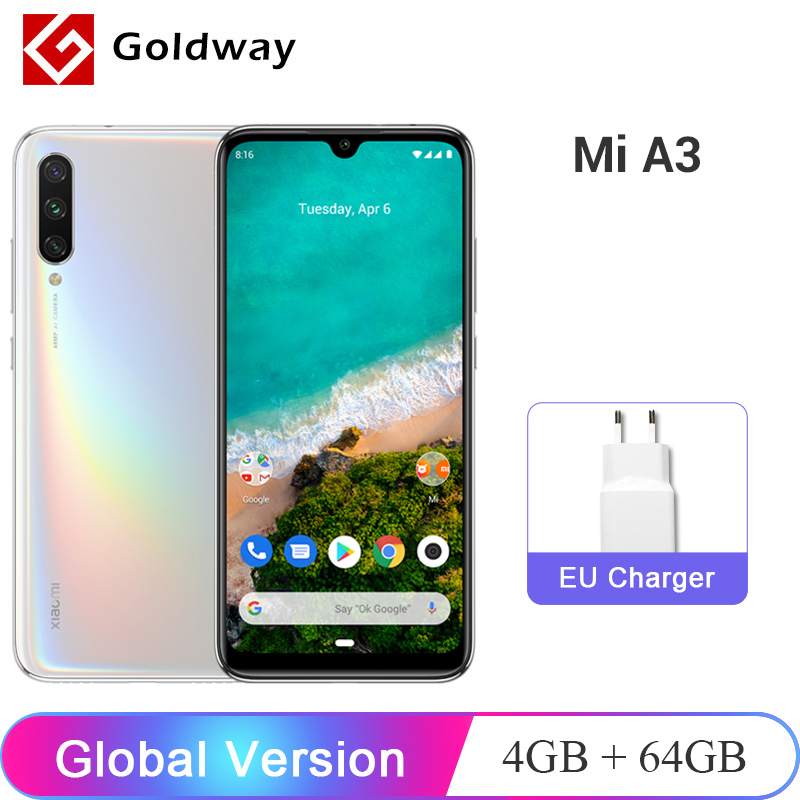 Xiaomi Mi A3 MiA3 Global Version 4GB RAM 64GB ROM Mobile Phone Snapdragon 665 Octa Core 6.088