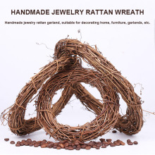 The Best Retro Christmas Wreath Hang Natural Garland Dried Rattan Xmas Home Wall Decor 889