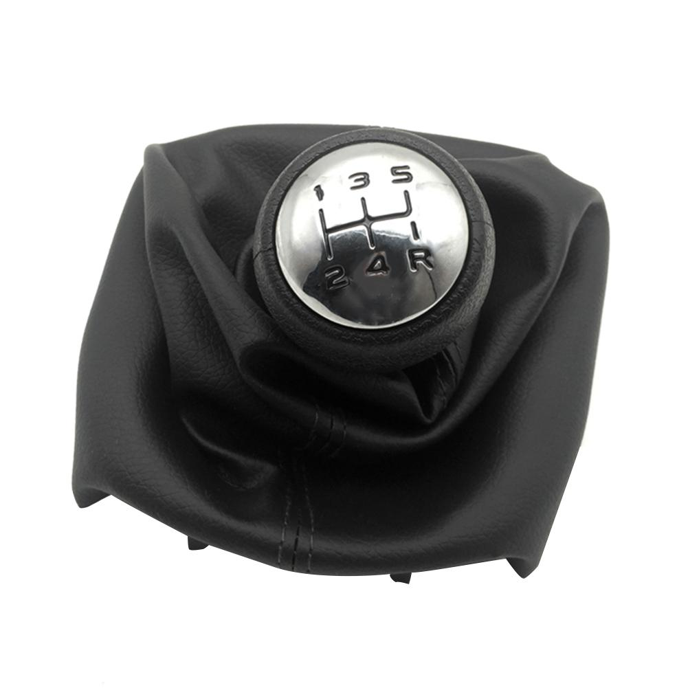 5 Speed Gear Shift Knob Shifter Boot for Peugeot 307 207 Citroen C3 C4 C5 with Gaiter Boot Cover Professional Car Accessories