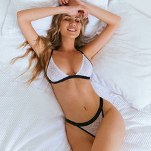 Womens Sexy Lace Lingerie Set Erotic Nightwear Underwear G-string Babydoll Sleepwear Bra Brief Sets
