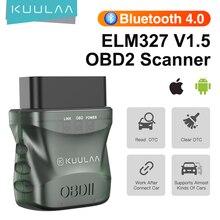 KUULAA ELM327 V1.5 OBD2 Scanner Bluetooth 4.0 OBD 2 Car Diagnostic Tool for IOS Android PC ELM 327 Scanner OBDII Reader