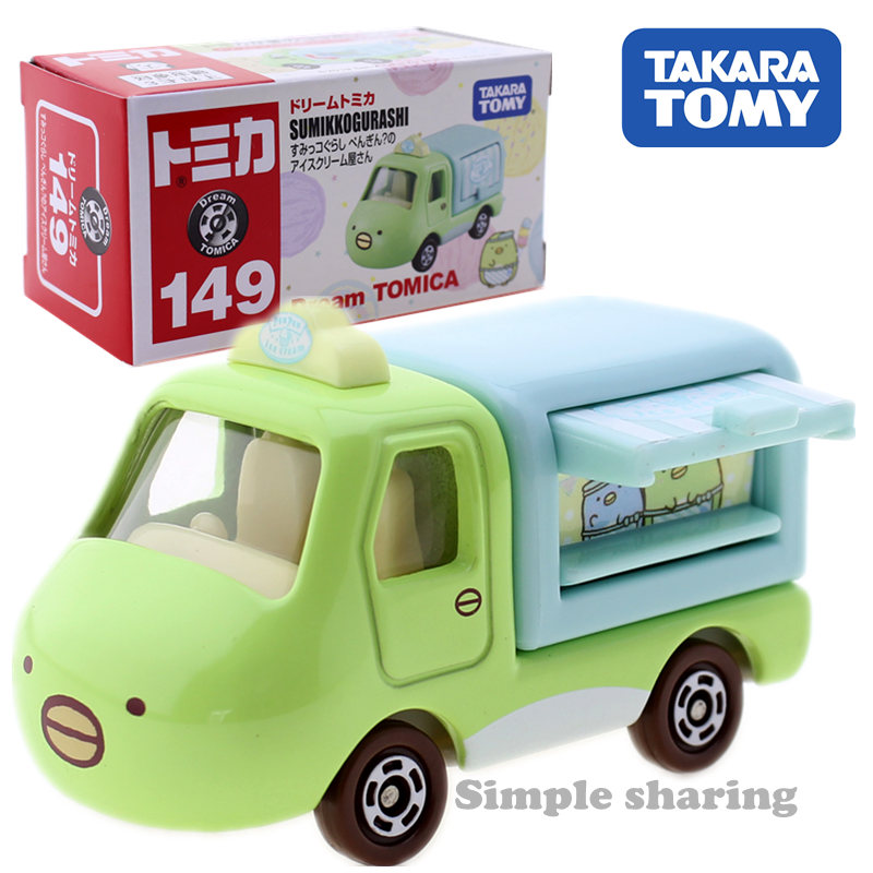 TOMY TAKARA Tomica Dream Tomica No.149 Sumikko Gurashi Penguin Ice Cream Shop Diecast Toy Car