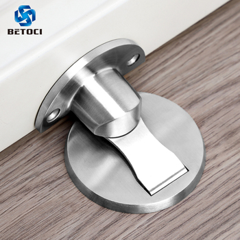 BETOCI Door Stopper 304 Stainless Steel Magnetic Door Stop,Nail Free Floor Door Stop,Hidden Stopper For Door Furniture Hardware yutoko stainless steel door stop casting powerful floor mounted magnetic holder 46mm 47mm satin nickel brushed door stopper